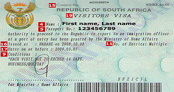 Visa Agent For South Africa