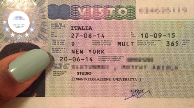 TOURIST Visa Requirements for ITALY (DELHI)