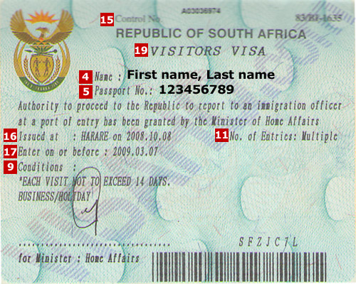 South Africa Visa Agent