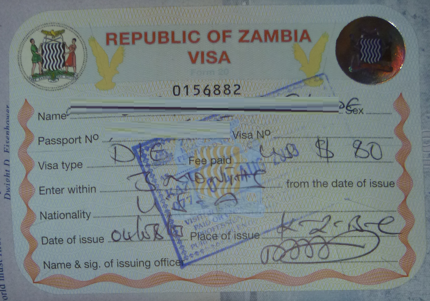 ZAMBIA EMBASSY CLOSED ON 12 MARCH 2019