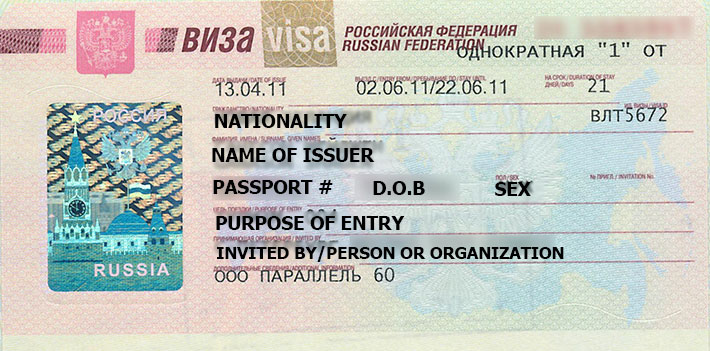 TOURIST Visa Requirements for RUSSIA