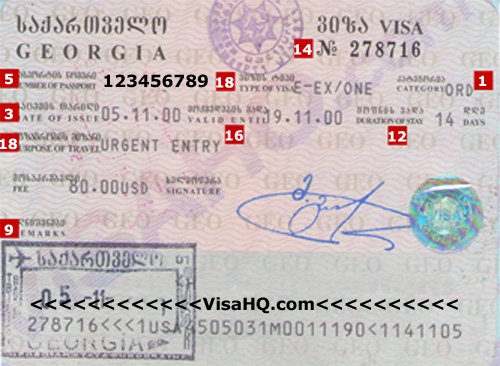 TOURIST Visa Requirements for GEORGIA